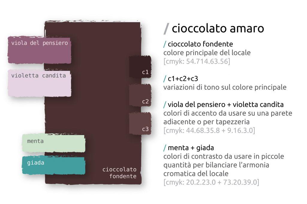 ONICE architettura - palette colori per casa color cioccolato