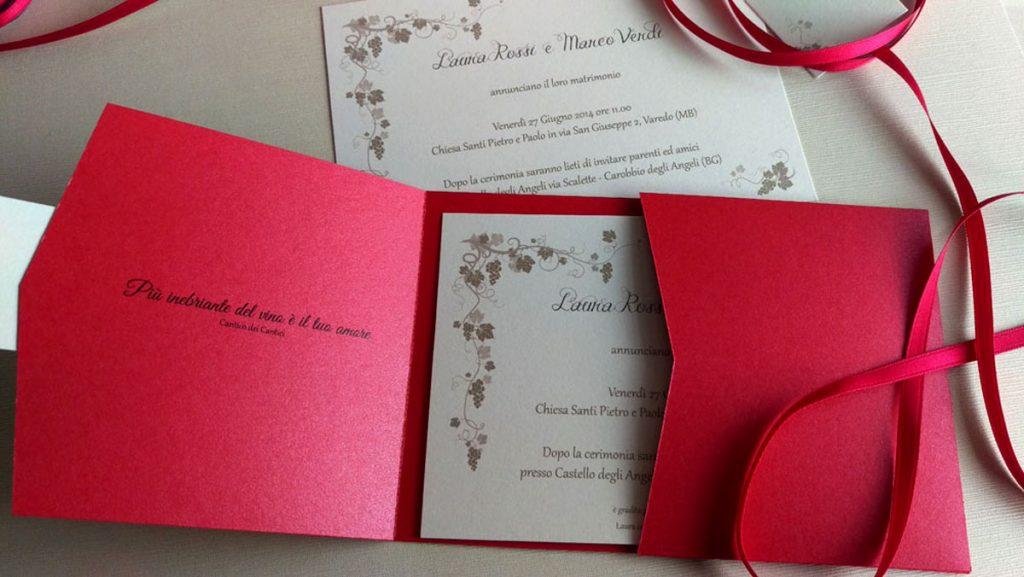 Onice Eventi   partecipazione di nozze a tema vino