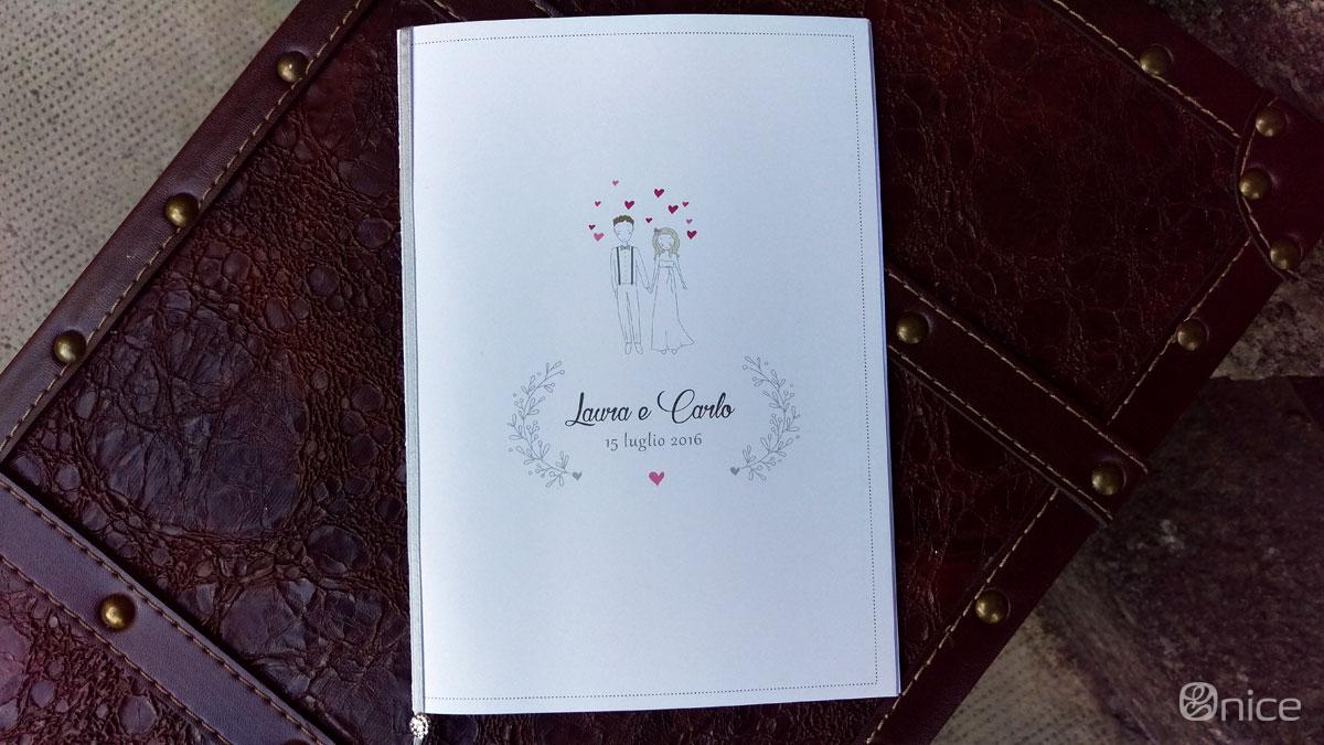 Il libretto della cerimonia di nozze