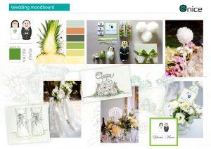ONICE wedding planner Monza e Como   wedding moodboard